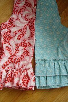 THE SEWING DORK: How to Make Ruffle Leg Pants