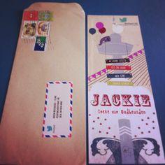 Lekker formaatje! mooie enveloppe! sjiek etiketje! te gekke postzegels!