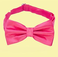 Hot Pink Boys Ages 1-7 Wedding Boys Neck Bow Tie