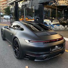 All New Black Porsche 992 - Luxury Cars World - Exotic cars - Porsche 911, Black Porsche, Porsche Sports Car, Porsche Carrera, Luxury Sports Cars, Top Luxury Cars, Sport Cars, Luxury Auto, Mclaren P1 Black