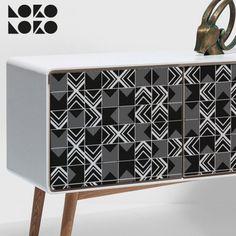 Actualiza el look de tus muebles con vinilo de estilo cerámico #lokolokodecora #vinilosdecoracion