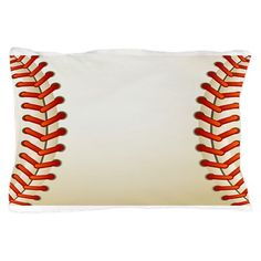 Baseball Texture Ball Pillow Case on CafePress.com
