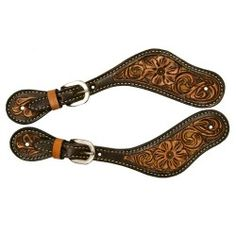 Filigree Spur Straps with Sand Suede Inlay