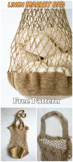 Totes Taschen kostenlose Muster 7 Brilliant Crochet Tote Grocery Bags Ideas Free Patterns - Crochet and Knitting Patterns Crochet Market Bag, Crochet Tote, Crochet Purses, Diy Crochet, Crochet Crafts, Crochet Projects, Purse Patterns, Knitting Patterns, Crochet Stitches
