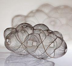 bulut cafes (cloud cage, that is)work by turkish artistkemal tufan. via neest.
