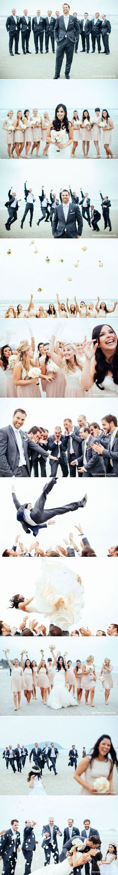 Wedding photography poses bridal party groomsmen group shots new ideas Wedding Pictures Beach, Wedding Picture Poses, Party Pictures, Wedding Photography Poses, Wedding Poses, Wedding Beach, Photography Styles, Photographer Wedding, Portrait Photography