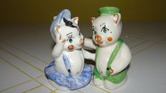 He Pig - She Pig Salt and Pepper Shakers from hodgepodgelodge on Ruby Lane