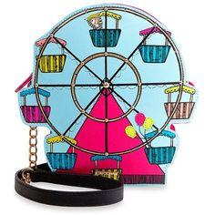 Betsey Johnson Multi Ferris Wheel Shoulder Bag ($88) ❤ liked on Polyvore featuring bags, handbags, shoulder bags, multi, zipper purse, blue purse, betsey johnson purses, shoulder handbags and shoulder bag purse