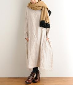 [Book] [Bespoke linen chambray dress side pockets Nachuran] (B · Kinari)