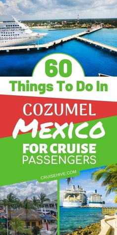 Here are all the things you can do in Cozumel, Mexico for cruise passengers when the ship is in port. Plenty of cruise and travel tips including Cozumel excursions and beaches. Top cruises and tours Honeymoon Cruise, Cruise Travel, Cruise Vacation, Vacations, Cruise Packing, Honeymoon Island, Vacation Planner, Honeymoon Ideas, Best Cruise