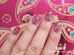 A sari inspired nail design. I -love- this.