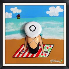 Stone Art: On the Beach Pebble Painting, Pebble Art, Stone Painting, Stone Crafts, Rock Crafts, Diy And Crafts, Pebble Pictures, Rock And Pebbles, Rock Painting Ideas Easy