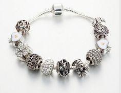 $11.8 silver coating crown charm bracelet