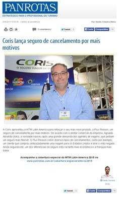 Título: Coris lança seguro de cancelamento por mais motivos. Veículo: Panrotas. Data: 24/04/2015. Cliente: April