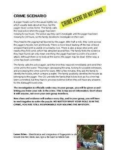 crime scene scenario essay Crime scene investigation this essay crime scene investigation and other 63,000+ term papers, college essay examples and free essays are available now on reviewessayscom autor: reviewessays • november 27, 2010 • essay • 1,888 words (8 pages) • 1,270 views.