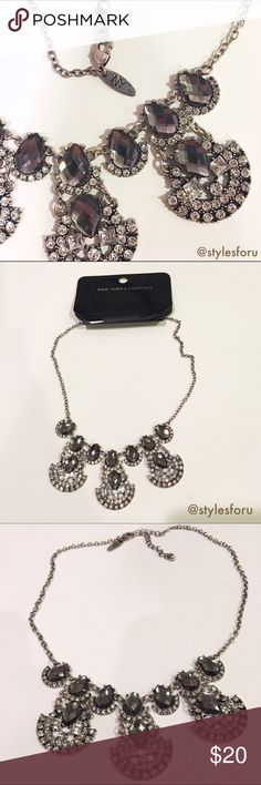 NWT. Silver gemmed statement necklace NWT. Silver gemmed statement necklace. Adjustable back chain. Brand: New York & Company. Size: One size. Sorry, no trades. Like the item but not the price, feel free to make me a reasonable offer using the offer button. New York & Company Jewelry Necklaces