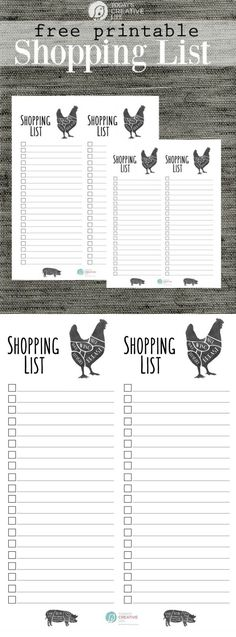 Grocery List Free Printable Stay organized with a printable shopping grocery list. Free printables on TodaysCreativeLif… Printable Quotes, Printable Planner, Free Printables, Planner Diy, Meal Planner, Printable Shopping List, Shopping List Grocery, List Template, Templates