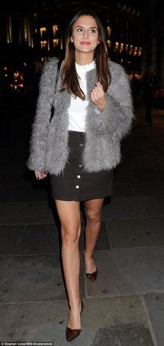 Head to head: Made In Chelsea star Lucy Watson is also said to be on Capital's wish list...