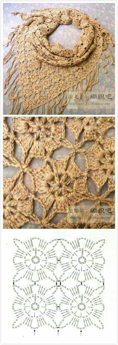 Pretty Join As You Go Square - Lacy Crochet Flower Shawl or Blanket