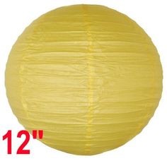 "Yellow Chinese/Japanese Paper Lantern/Lamp 12"" Diameter - Just Artifacts Brand by Just Artifacts. $1.20. Great for party and home decoration. Check Just Artifacts products for more available colors/sizes."