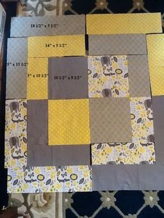 Big Baby Bento Box Quilt Free Tutorial When I found out that my sister-in-law was going to have a baby last summer, I naturally had to make a baby quilt for her. Since it was their third child, they didn't want to know if it was … Quilt Baby, Baby Quilts Easy, Baby Boy Quilt Patterns, Rag Quilt, Quilt Block Patterns, Baby Quilts For Boys, Modern Baby Quilts, Baby Quilts To Make, Size Of Baby Quilt