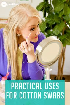 Dust off that box of Q-tips under your bathroom sink, because you're about to learn 11 handy new ways to use them! Touch Up Paint, Cotton Swab, Beauty Care, Diy Beauty, Manicure At Home, Spot Treatment, Essential Oil Uses, Cooking Oil, Makeup Remover