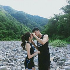 Find images and videos about love, couple and aesthetic on We Heart It - the app to get lost in what you love. Love In Korean, Korean Boy, Korean Couple, Cute Korean Girl, Best Couple, Cute Couples Goals, Cute Anime Couples, Couple Goals, Cute Relationship Goals