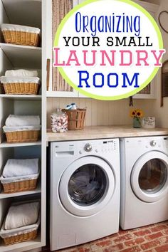 Laundry room organization ideas - tips for organizing a small laundry room #gettingorganized #organizinglife