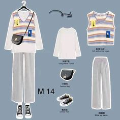 Korean Outfit Street Styles, Korean Fashion Dress, Korean Outfits, Hijab Fashion, Fashion Outfits, Classic Outfits, Cute Casual Outfits, Retro Outfits, Simple Outfits
