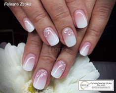 Nagel Hochzeit Beautiful nails for me - - Kids' Toys. Rose Gold Nails, Sparkle Nails, Pink Nails, French Tip Gel Nails, Casual Nails, Hair Colorful, Short Gel Nails, Nagel Blog, Nagel Gel