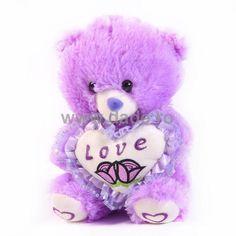 Ursulet de plus mov cu alb D-32-big Om, Teddy Bear, Animals, Animales, Animaux, Teddy Bears, Animal, Animais