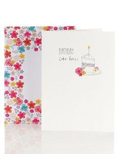 Piece of Cake Birthday Card Home