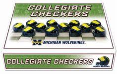 Michigan Wolverines Checker Set