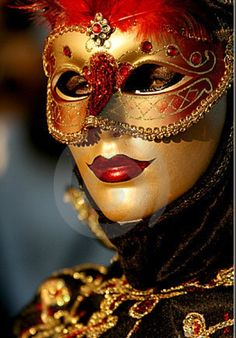 red and gold mask