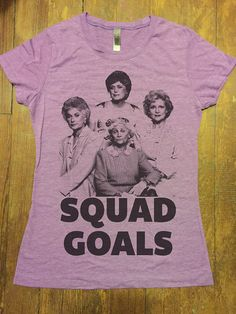 903cd0f8b04e11 Hocus Pocus SQUAD GOALS Funny TShirts Unisex Womens by QBeeSupply The  Golden Girls