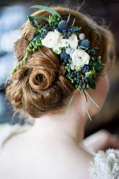 bridal floral headpiece with privet berries - brides of adelaide