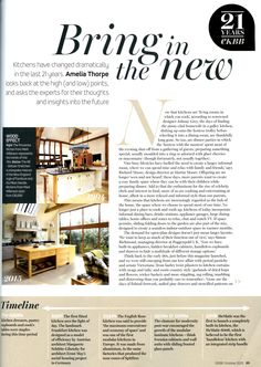 Laurence Pidgeon comments on how kitchen design has changed over the last 21 years laurencepidgeon.com Essential Kitchen Bathroom Bedroom October 2015