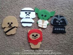 Star Wars Themed Baby Mobile  Felt Plushies by LavenderPaperHearts http://lavenderpaperhearts.etsy.com