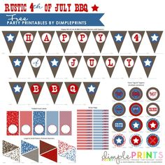Rustic 4th July BBQ Free Printable