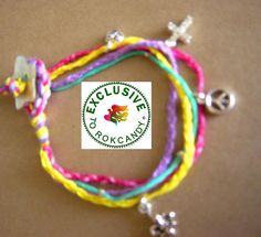 bracelet idea: color + charms