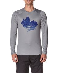 PATAGONIA - CAPILENE 1 SILKWEIGHT GRAPHIC LAYER TOP - MONTE FEATHER GREY on http://www.surfstitch.com