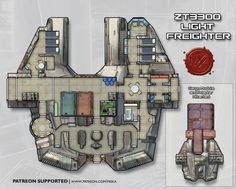 Maps Archives — Page 2 of 15 — Miska's Maps RPG Cartography Nave Star Wars, Star Wars Rpg, Star Wars Ships, Spaceship Interior, Spaceship Design, Ship Map, Space Opera, Edge Of The Empire, Sci Fi Rpg