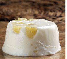 Gelatina de yogur con piña. © Fotógrafa: Bertha Herrera