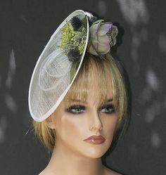 Wedding Hat Wedding Fascinator Saucer Hat Derby Hat 9cdf9a8094c