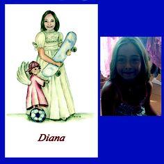 A Diana también le gusta el futbol y el skate...