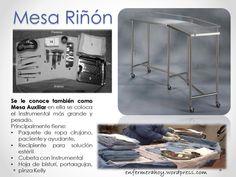 La Mesa riñón utilizada en cirugía es de un tamaño más grande que la mesa mayo.