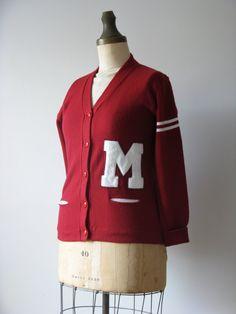 vintage letterman sweater