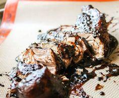Brown Sugar Balsamic Pork Tenderloin by thefoodcharlatan #Pork_Tenderloin #Brown_Sugar #Balsamic_Vinegar