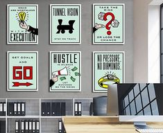 Ingredients for Success Inspirational Hustle Artwork Wall Canvas Quote – Ikonick Cheap Dorm Decor, Dorm Decorations, Game Room Decor, Room Wall Decor, Hallway Decorating, Decorating Small Spaces, Monopoly Theme, Game Room Basement, Garage Game Rooms