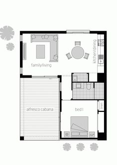 Floor plan LHS - House Plans, Home Plan Designs, Floor Plans and Blueprints Granny Flat Plans, Mcdonald Jones Homes, Small House Floor Plans, House Blueprints, Cabin Plans, In Law Suite, Tiny House On Wheels, House Layouts, Little Houses